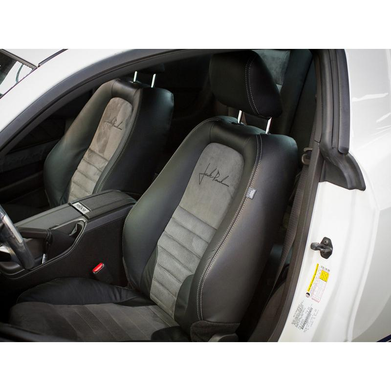 Seats 2011-2012 Mustang Leather Seats, Convertible Blk w/Suede & Stitching Accessories