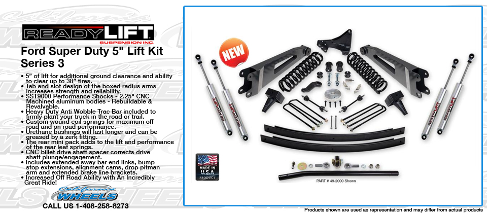 Suspension Ford Super Duty 5in Lift Kit Series 3 Accessories