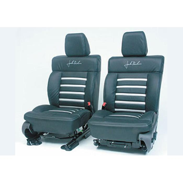 2004-2008 F150 Leather Seats, SuperCrew Black/Silver