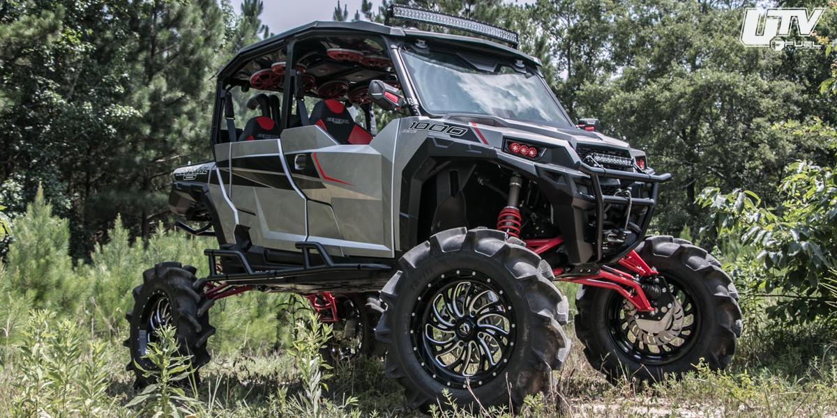 Fuel D641 Kompressor UTV 20x7 4x156 13mm Black//Milled Wheel Rim 20 Inch