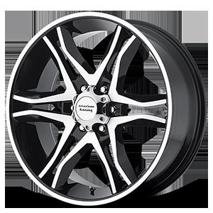 American Racing Custom Wheels AR893 Mainline 6 Gloss Black Machined