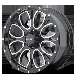 Helo Wheels HE879 6 Gloss Black Machined & Milled
