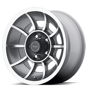 VN47 Vector Anthracite Gray Machined Face 5 lug