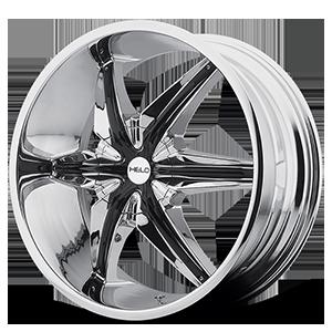 Helo Wheels HE866 6 Chrome w/ Gloss Black Accents