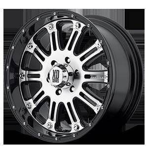 XD Wheels XD795 Hoss 6 Gloss Black with Machine Face