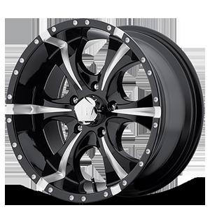 HE791 MAXX Gloss Black Milled 5 lug