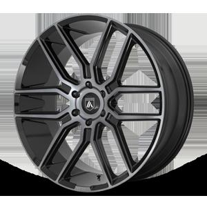 Asanti Black Label ABL-28 Baron 6 Gloss Black Grey Tinted Clear