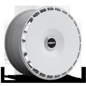 AeroDisc Gloss White w/ Silver Hex 5 lug