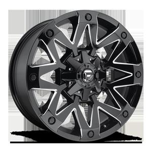 Ambush - D555 Gloss Black & Milled 5 lug
