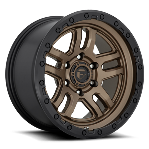 Fuel 1-Piece Wheels D702 AMMO 5 Bronze w/ Black Ring
