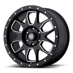 AX196 Satin Black Milled 6 lug