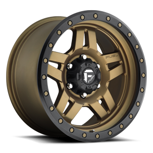 D583 ANZA Matte Bronze w/ Black Ring 6 lug