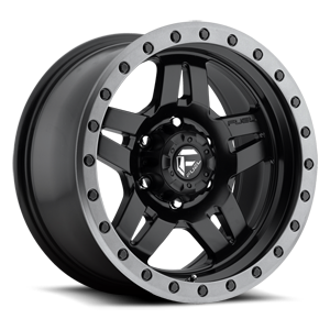 Anza - D557 Matte Black w/ Anthracite Ring 6 lug