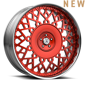 Asanti Forged Wheels FS Series FS24 5 Red and Chrome