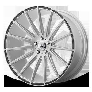 Asanti Black Label ABL-14 Polaris 5 Brushed Silver w/ Carbon Fiber Inserts