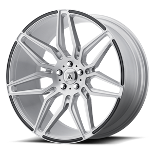 ABL-11 Sirius Brushed Silver w/ Carbon Fiber Inserts 5 lug