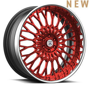 Asanti Forged Wheels A/F Series AF891 6 Red with Chrome Lip