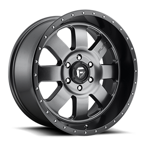 Fuel 1-Piece Wheels Baja - D628 6 Anthracite with Black Lip