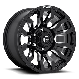 Blitz - D673 Gloss Black & Milled 6 lug