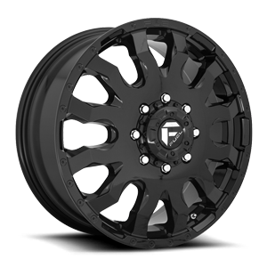 Blitz Dually Front - D675 Gloss Black 8 lug
