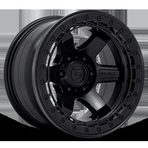 Fuel 1-Piece Wheels BLOCK BEADLOCK - D122 6 Matte Black with Black Ring
