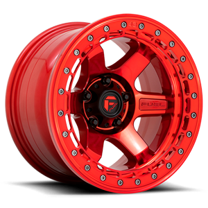 BLOCK BEADLOCK - D123 Candy Red with Red Ring 6 lug