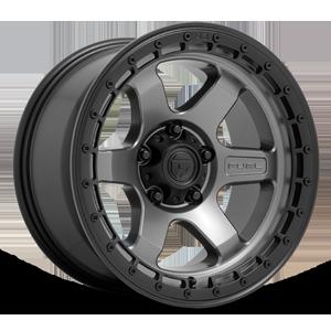 Fuel 1-Piece Wheels BLOCK - D752 5 Matte Anthracite w/ Black Ring