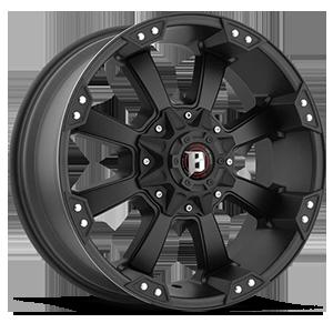 845 Morax Flat Black 5 lug