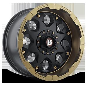 Ballistic Off Road 968 Shield 6 Flat Black Face w/ Flat Bronze Lip