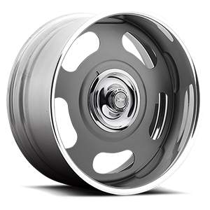 US Mags Big Slot - US405 5 Matte Grey w/ Chevy Bisc Brake Cap