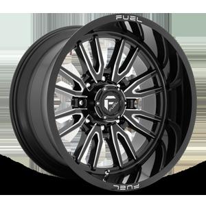 Fuel 1-Piece Wheels Clash 8 - D761 8 Gloss Black Milled