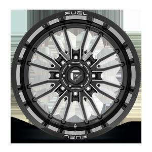 Clash 8 - D761 Gloss Black Milled 8 lug