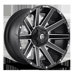 Fuel 1-Piece Wheels D616 CONTRA 5 Matte Black & Milled