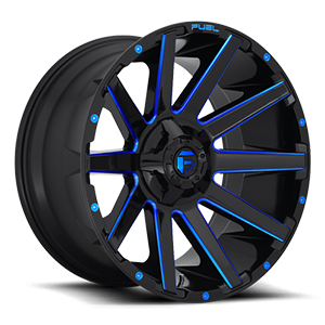 Fuel 1-Piece Wheels Contra - D644 8 Gloss Black w/ Candy Blue