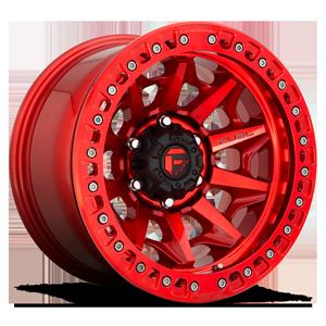 Fuel 1-Piece Wheels D113 COVERT - BEADLOCK 6 Candy Red