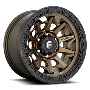 Fuel 1-Piece Wheels Covert - D696 6 Matte Bronze with Black Ring