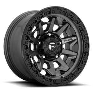 Fuel 1-Piece Wheels D716 COVERT 5 Matte Anthracite w/ Black Ring