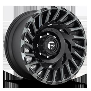 Fuel 1-Piece Wheels Cyclone - D683 8 Matte Black/Machined/DDT