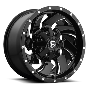 Fuel 1-Piece Wheels Cleaver - D574 5 Gloss Black & Milled