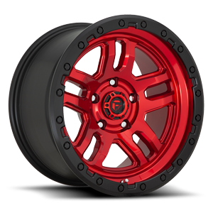 Fuel 1-Piece Wheels Ammo - D732 5 Candy Red w/ Black Ring