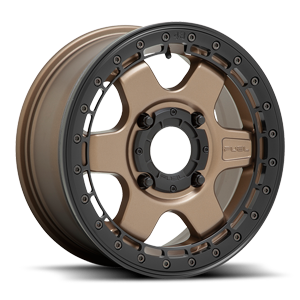 Block Beadlock - D924 - OFF ROAD ONLY Matte Bronze w/ Black Ring 4 lug