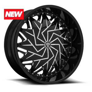 Dazr - S231 Gloss Black & Milled 5 lug