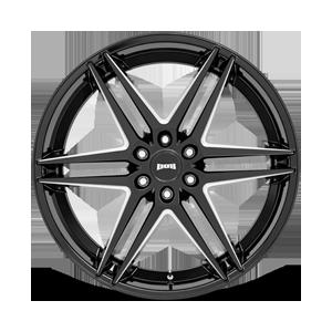 Dirty Dog - S267 Gloss Black Milled 6 lug