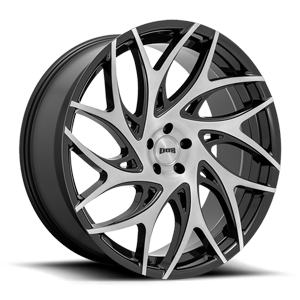 DUB 1-Piece S260 G.O.A.T. 5 Gloss Black with Brushed Tint