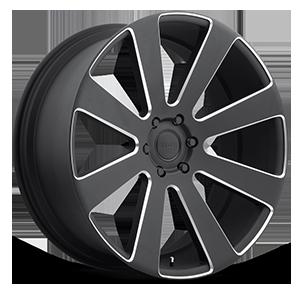 8-Ball - S187 Black & Milled 6 lug