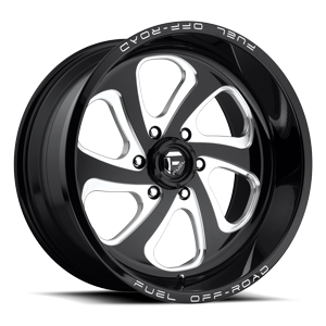 Fuel 1-Piece Wheels Flow 6 - D587 6 Black & Milled