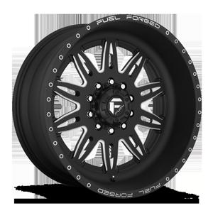 FF26D - 10 Lug Super Single Front Matte Black & Milled 10 lug