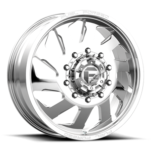 Fuel Dually Wheels FF39D - 10 Lug Front 10 Polished - 22x8.5