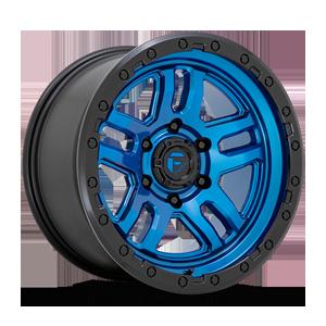 Fuel 1-Piece Wheels Ammo - D790 6 Blue with Black Lip