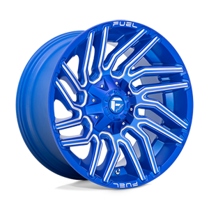 Fuel 1-Piece Wheels Typhoon - D774 6 Anodized Blue Milled